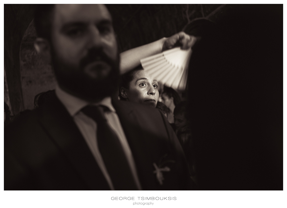 126_Wedding in Mystras_black and white portrait in the church.jpg