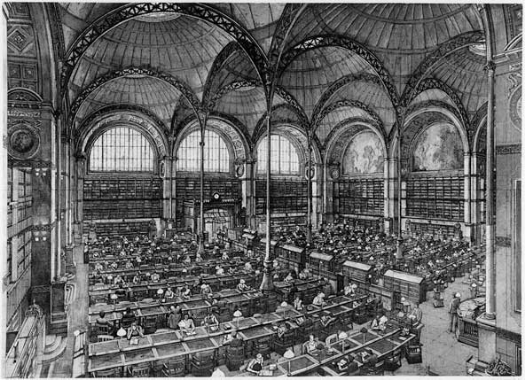 The Salle LaBrouste of the Bibliotheque   Nationale  (2001), by Erik Dezmazieres