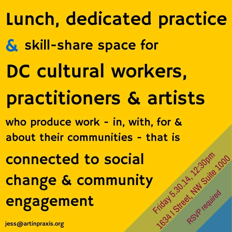 Facilitating convenings for community artists and cultural workers, 2014