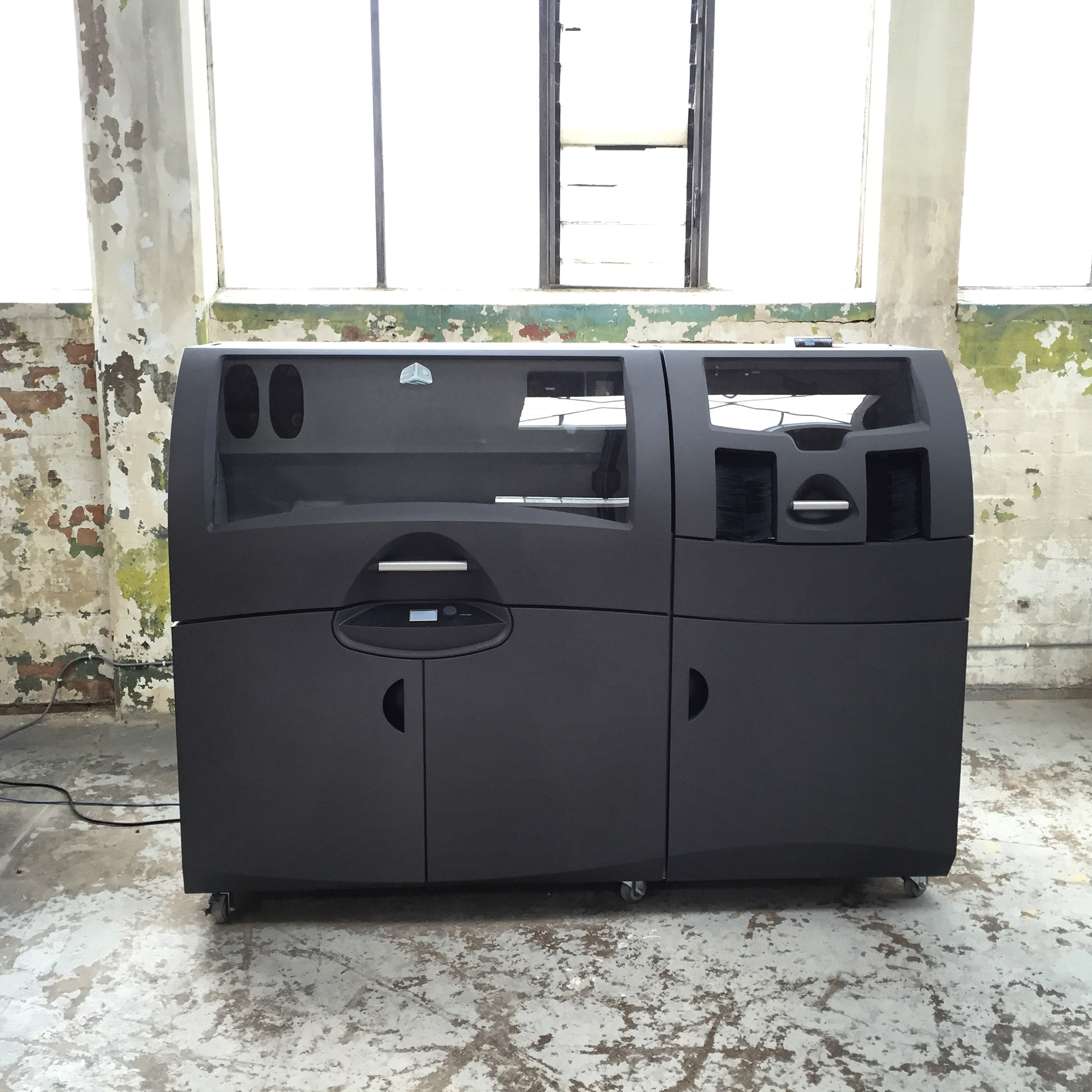 The modified 3D Systems 650 ceramic printer installed in the old Spode factory.