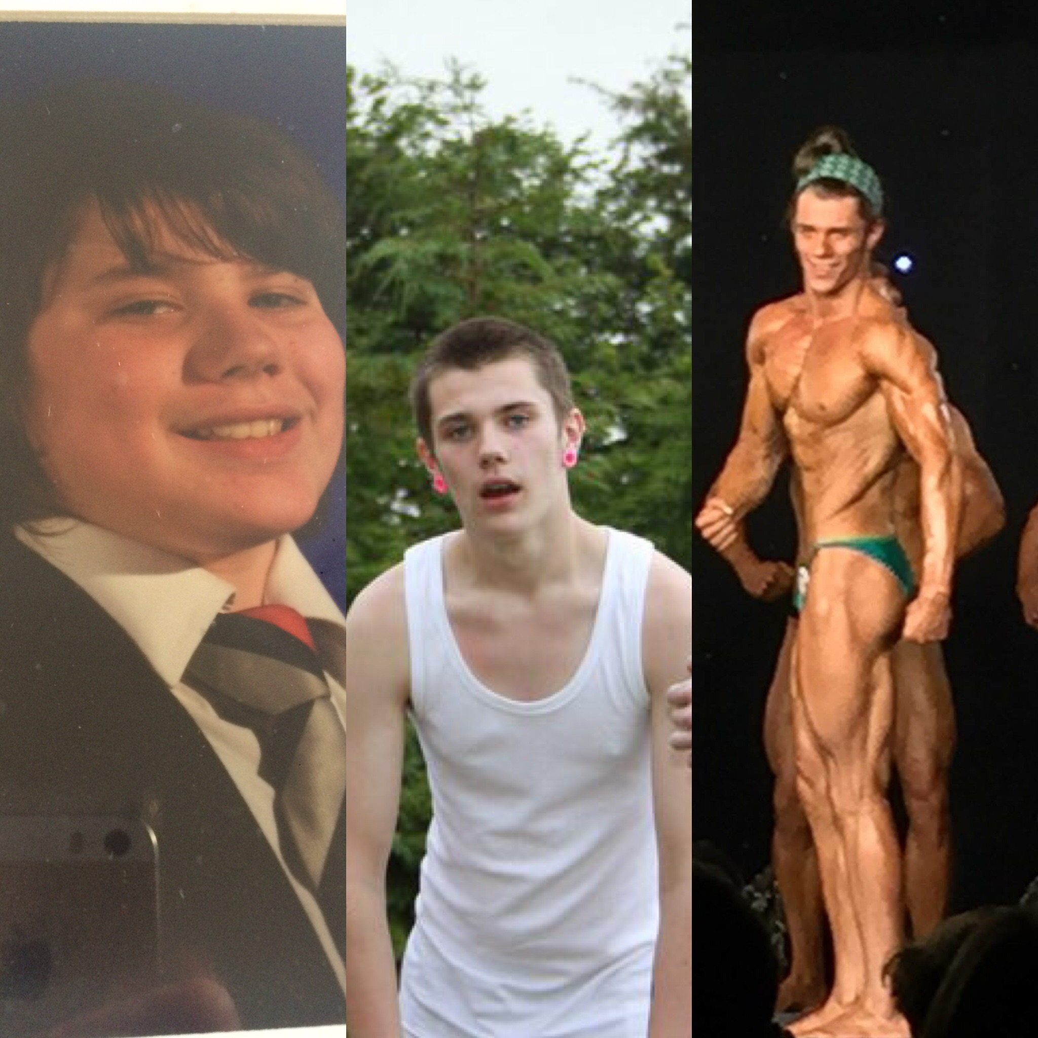 Donnacha journey from 15years old on the left to 20 on the right