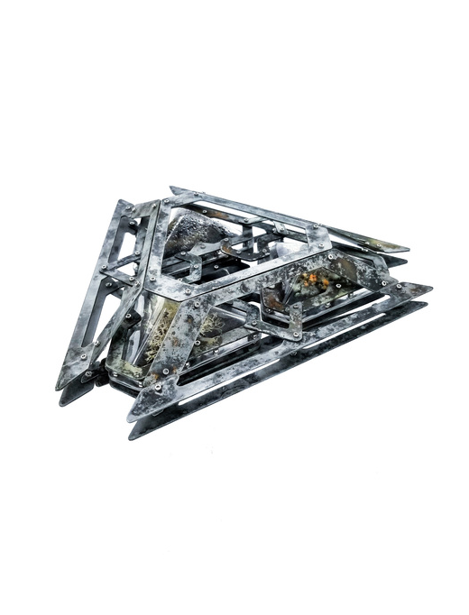 Wesley May -  Susceptible Assurance     24 cm x 27 cm x 7 cm    Aluminum, steel, brass, plastics, organics