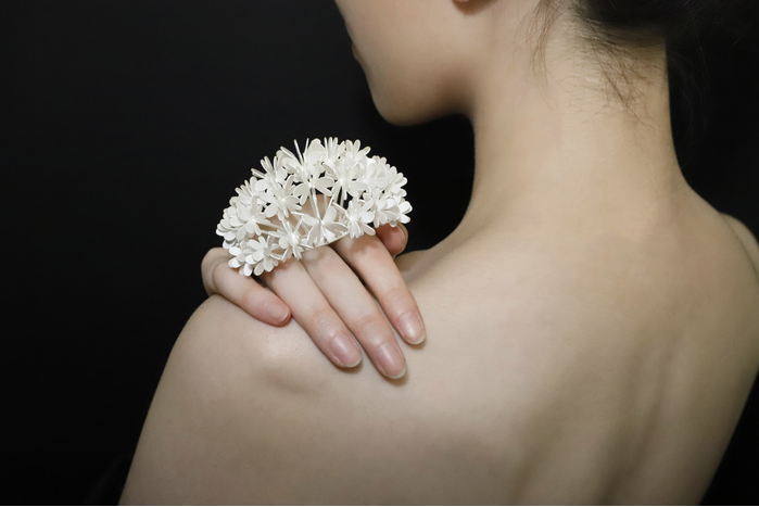"Diya Wang -  The Nature Beyond Nature     2.5"" x 3.3"" x 2""  Sterling silver"