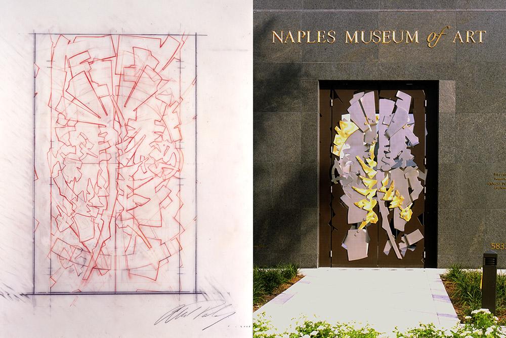Albert Paley   Proposal for Portal Gate, Naples Art Museum, FL  2000