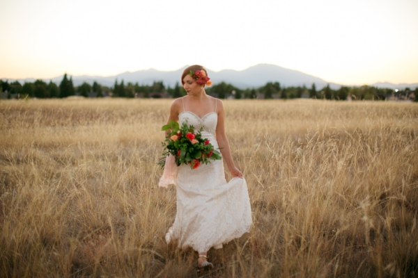 Fall Wedding Flowers in the Sunset!