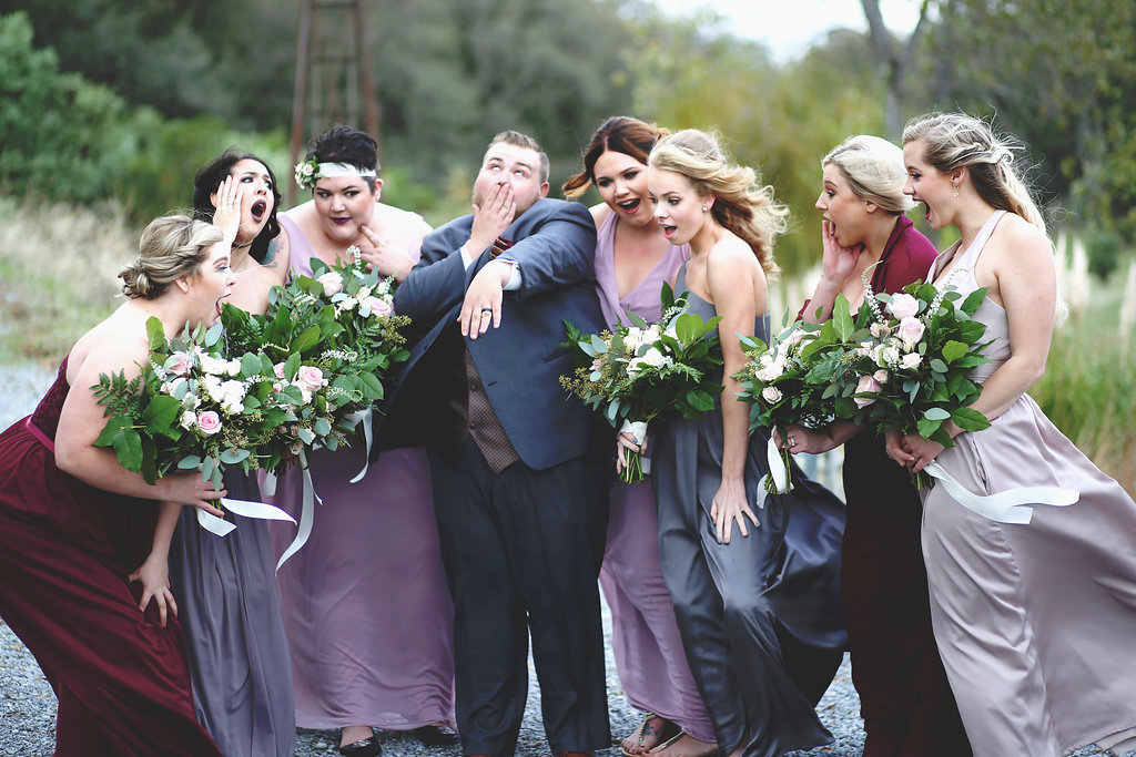 Loose Whimsical Bridesmaid Bouquet | Velours Designs | Redding, CA | Katelyn Parra Photography