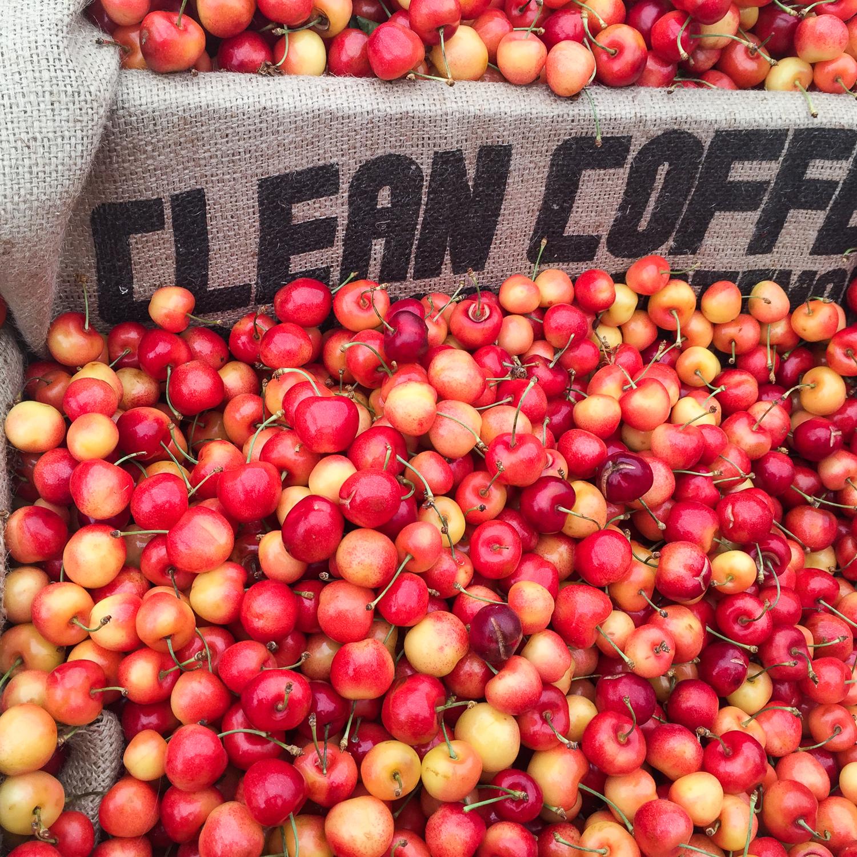 Ballard Market: Rainier Cherries
