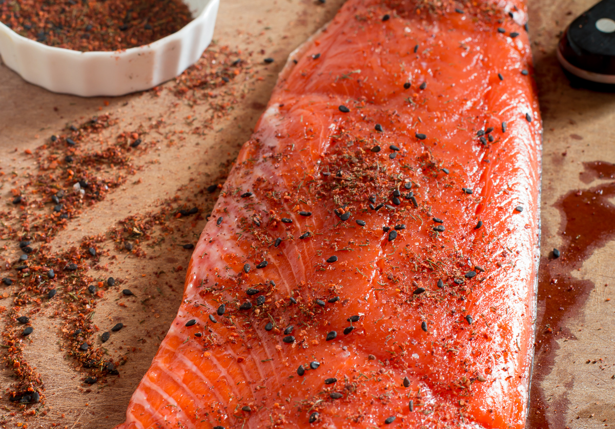 Fresh Sockeye Salmon and  Calico Fish Rub