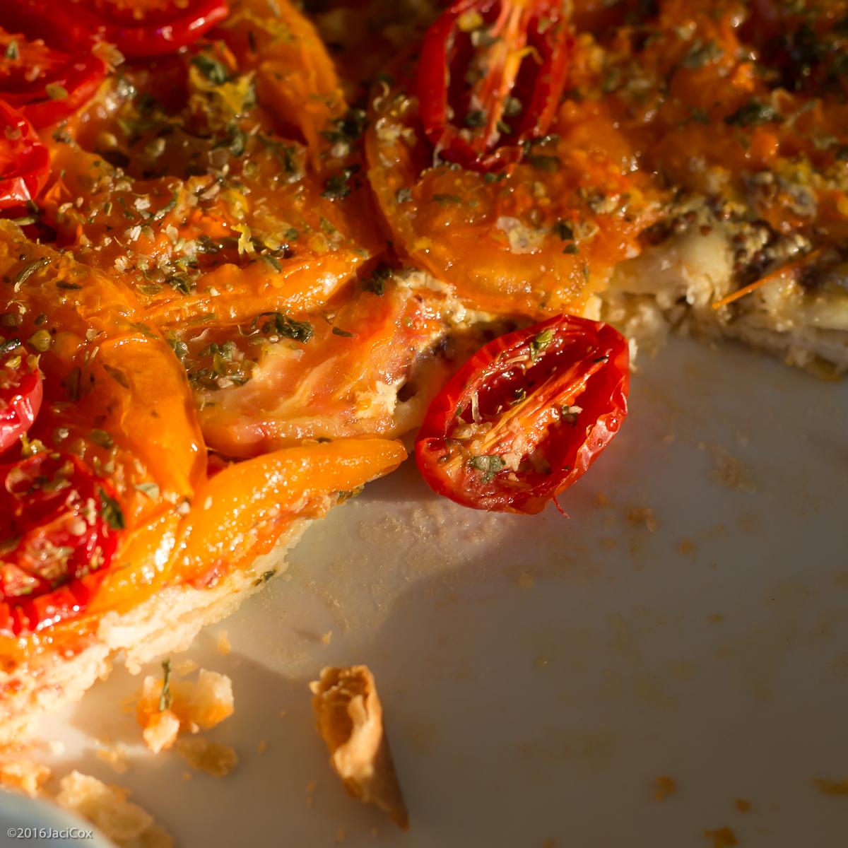Tomato Tart with Mustard