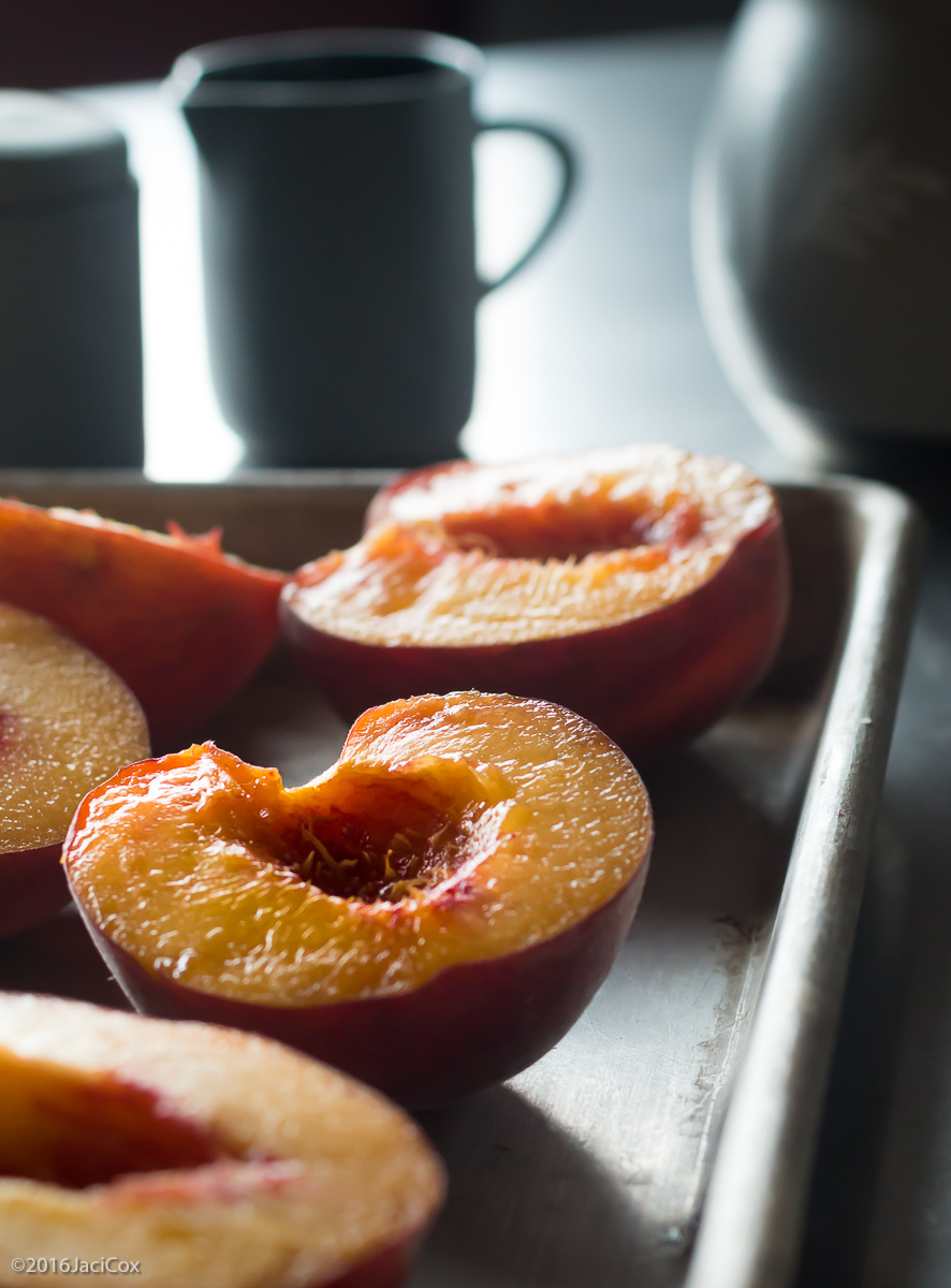 Peaches before they go on the Grill