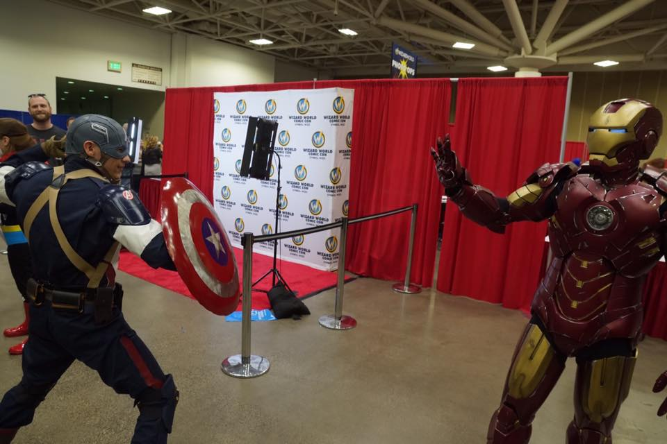 Captain America picking a fight with Iron Man