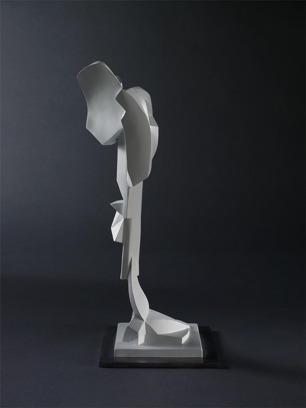"Homage to Stephen DeStaebler – 2006 – 21 x 7 x 9 – Cast Bronze and Stainless Steel - <a href=""mailto:judbergeron@mac.com?subject=Inquire: Homage to Stephen DeStaebler"">Inquire</a>"