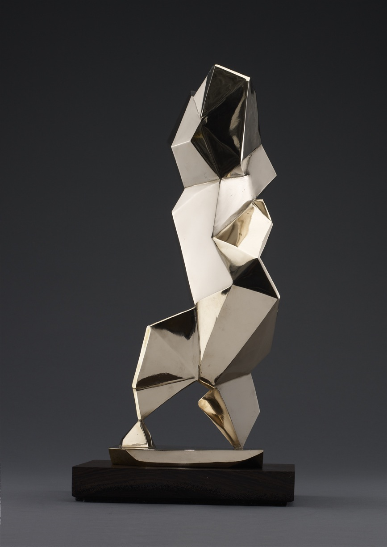 "The Crystalline Baby (Storey) – 2012 – 20 x 9 x 6 – High Polished Bronze - <a href=""mailto:judbergeron@mac.com?subject=Inquire: The Crystalline Baby (Storey) – 2012"">Inquire</a>"
