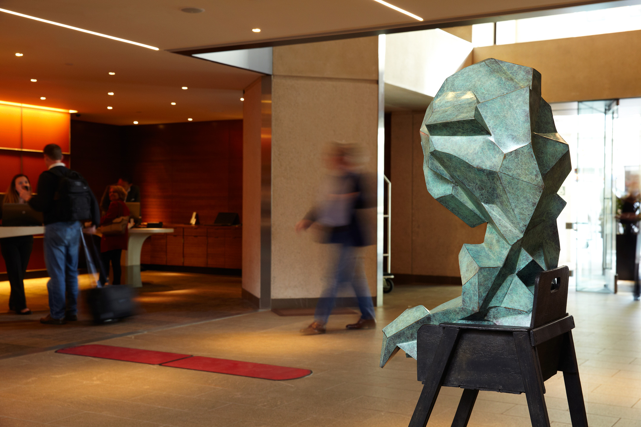 In the lobby of The Grand Hyatt, San Francisco.