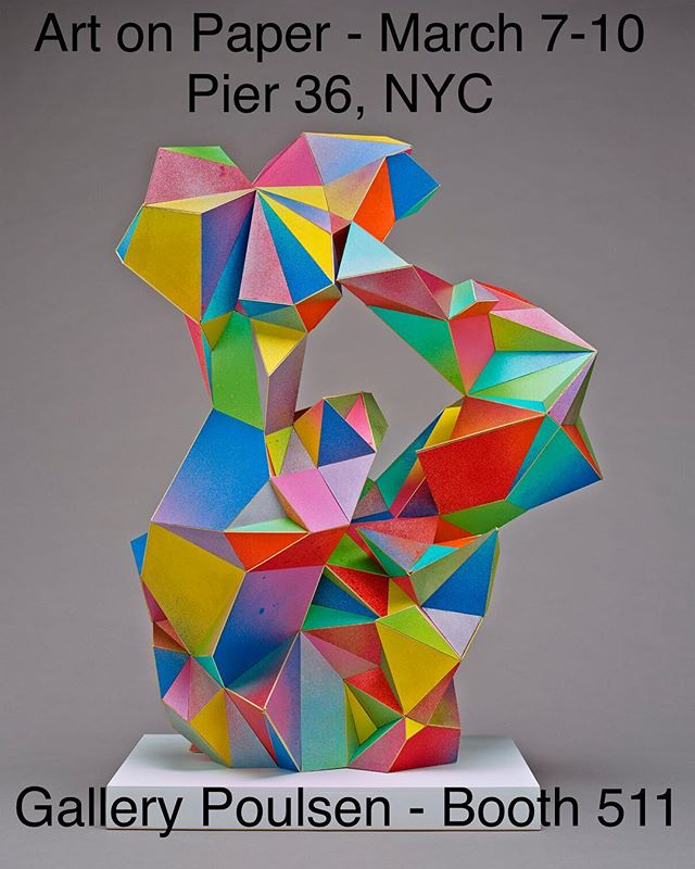 Excited to have some work with @gallerypoulsen for Art on Paper in NYC this week. #judbergeron #artconsultant #contemporarysculpture #contemporaryart #sculpture #paper #paperart #artonpaper