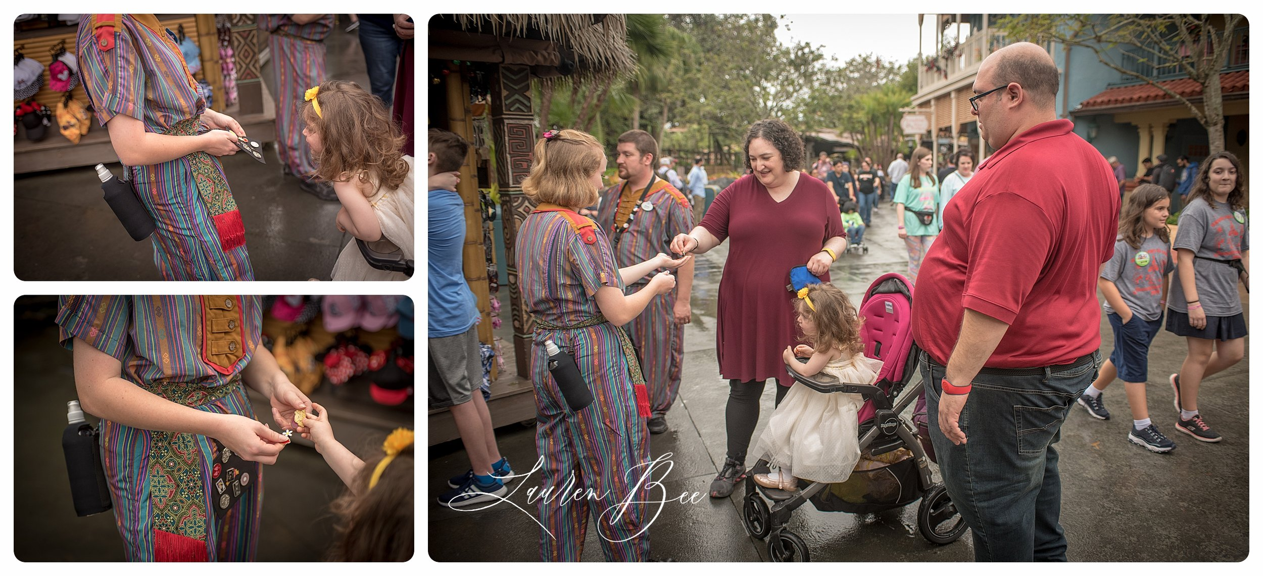 We stopped for some pin-trading, before heading back to Fantasyland.