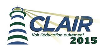 http://clair2015.wikispaces.com/Page+d%27accueil  Clair 2015 est un colloque en français renommé au Nouveau-Brunswick. J'ai eu l'opportunité d'y assister à plusieurs reprises et ce fut prodigieux! Des gens de partout au Québec, Ontario et même d'Europe viennent y assister. Je suis fière que nous ayons un colloque d'une telle envergure au NB. C'est vraiment intéressant!