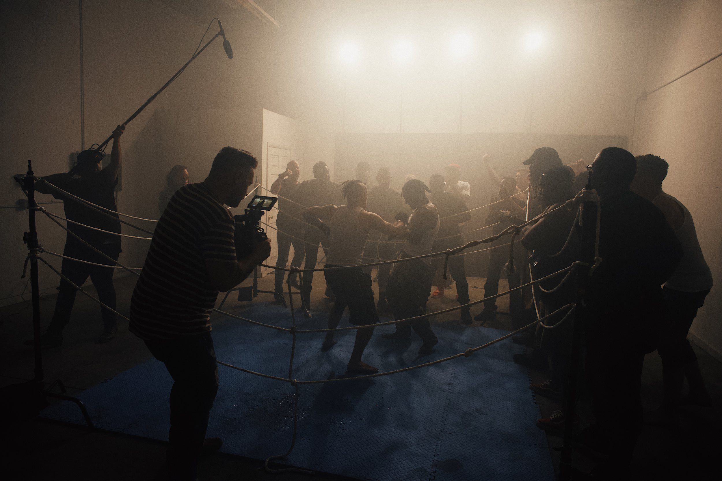 Shooting the final fight scenes. BTS courtesy of Zach Miles.