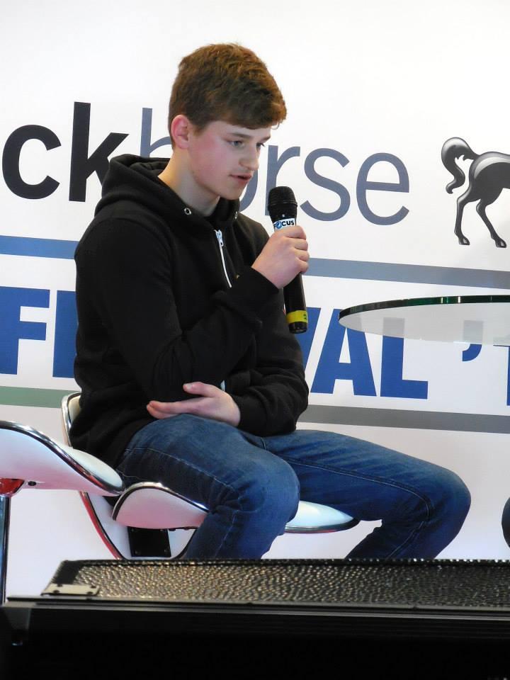 Sam speaking at Adelaide Bike Festival