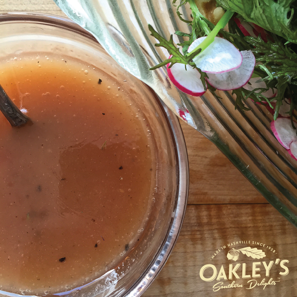 Easy Pepper Jelly Vinaigrette recipe from Oakley's Southern Delights
