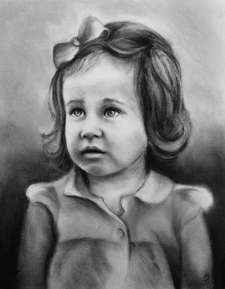 Emma - 11x14 charcoal on paper
