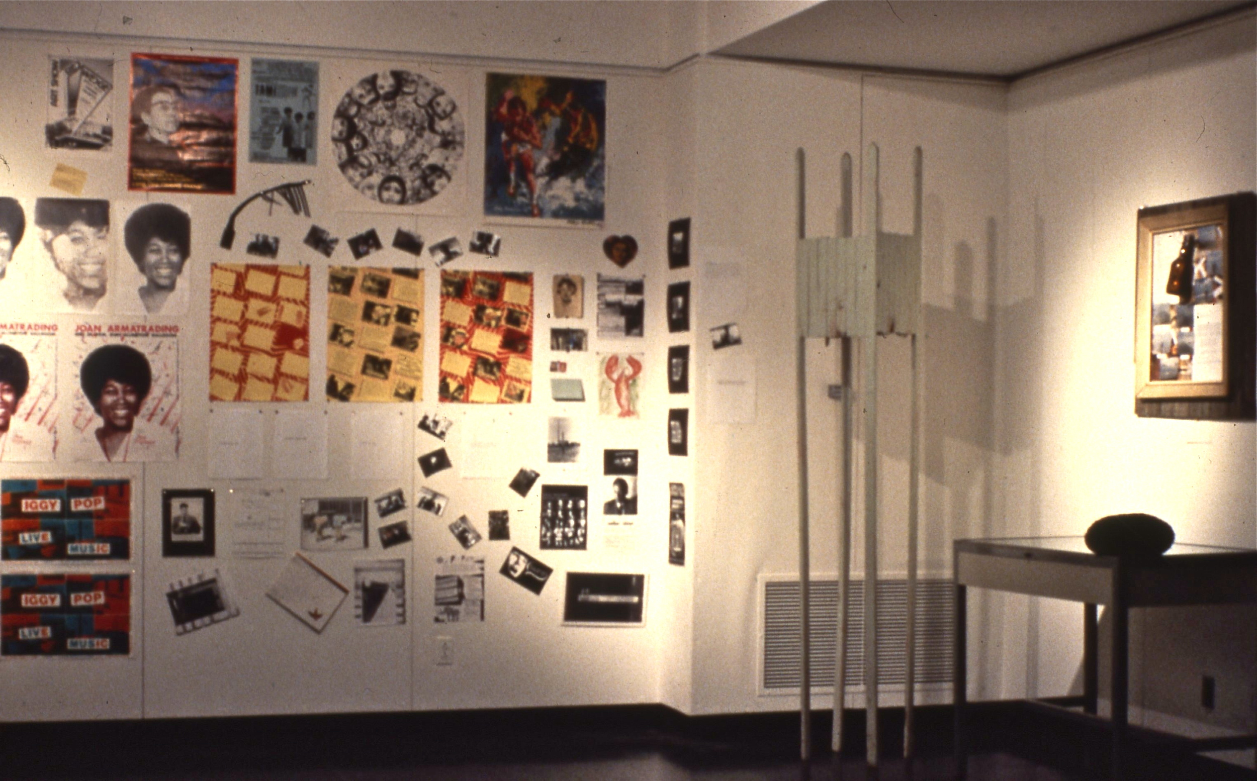 posters and sculpture