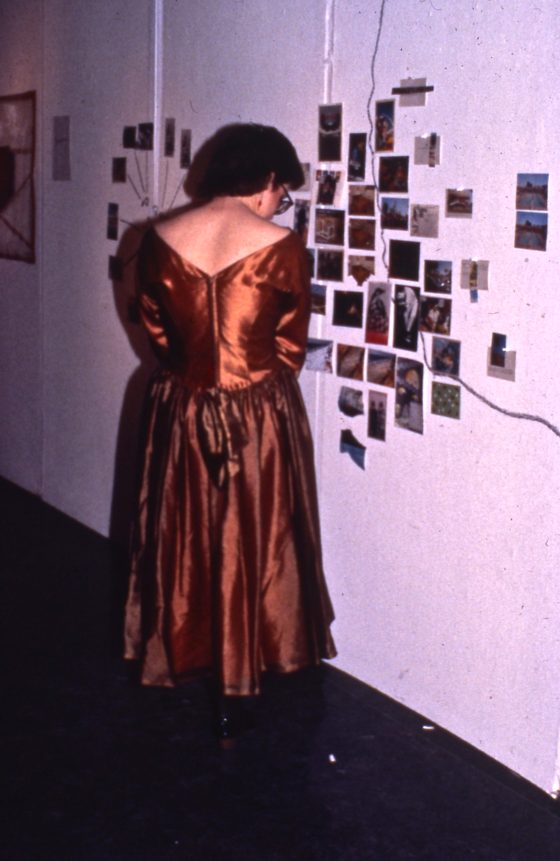 a viewer at the exhibition