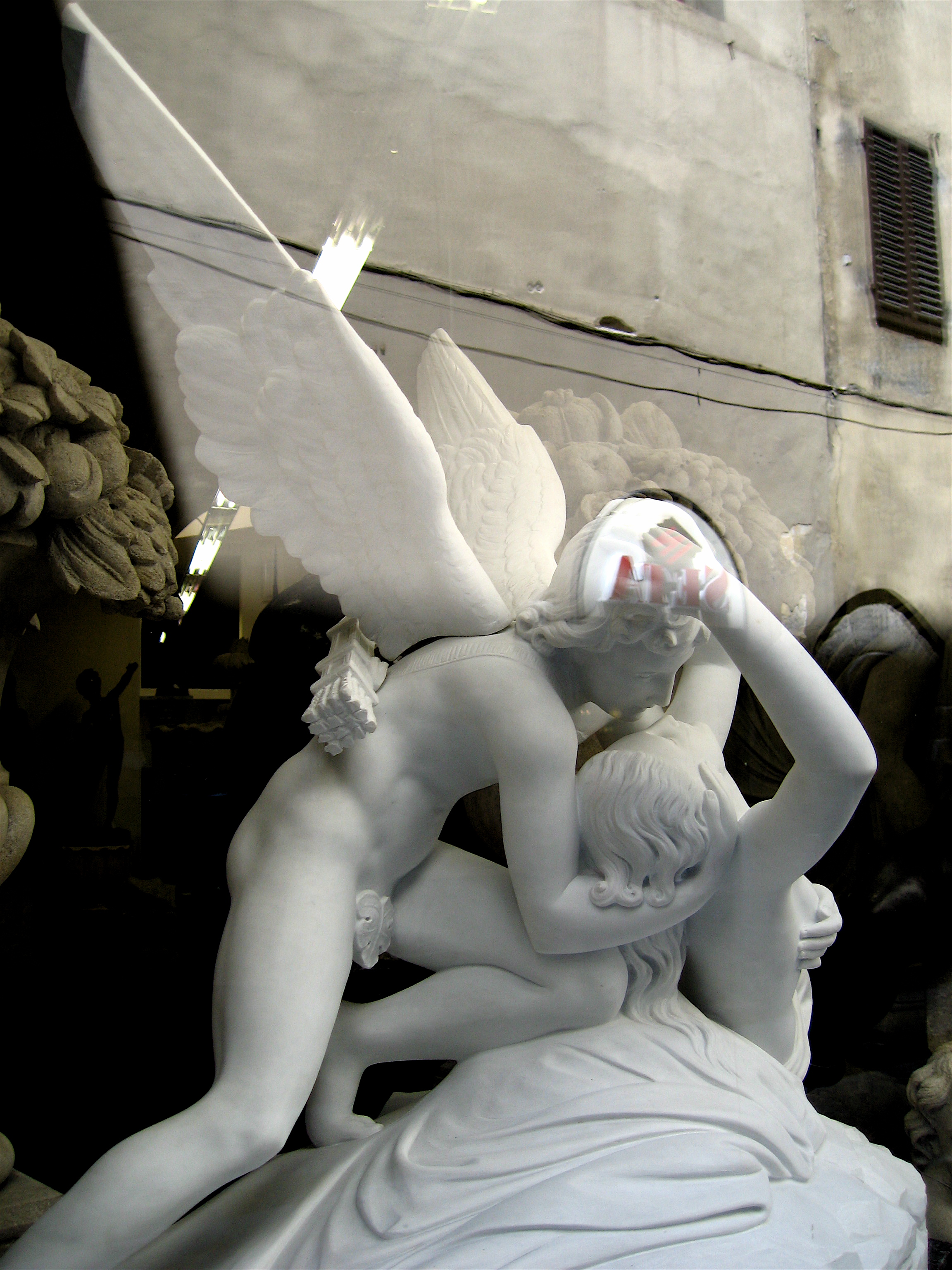 Cupid and Psyche with reflection s