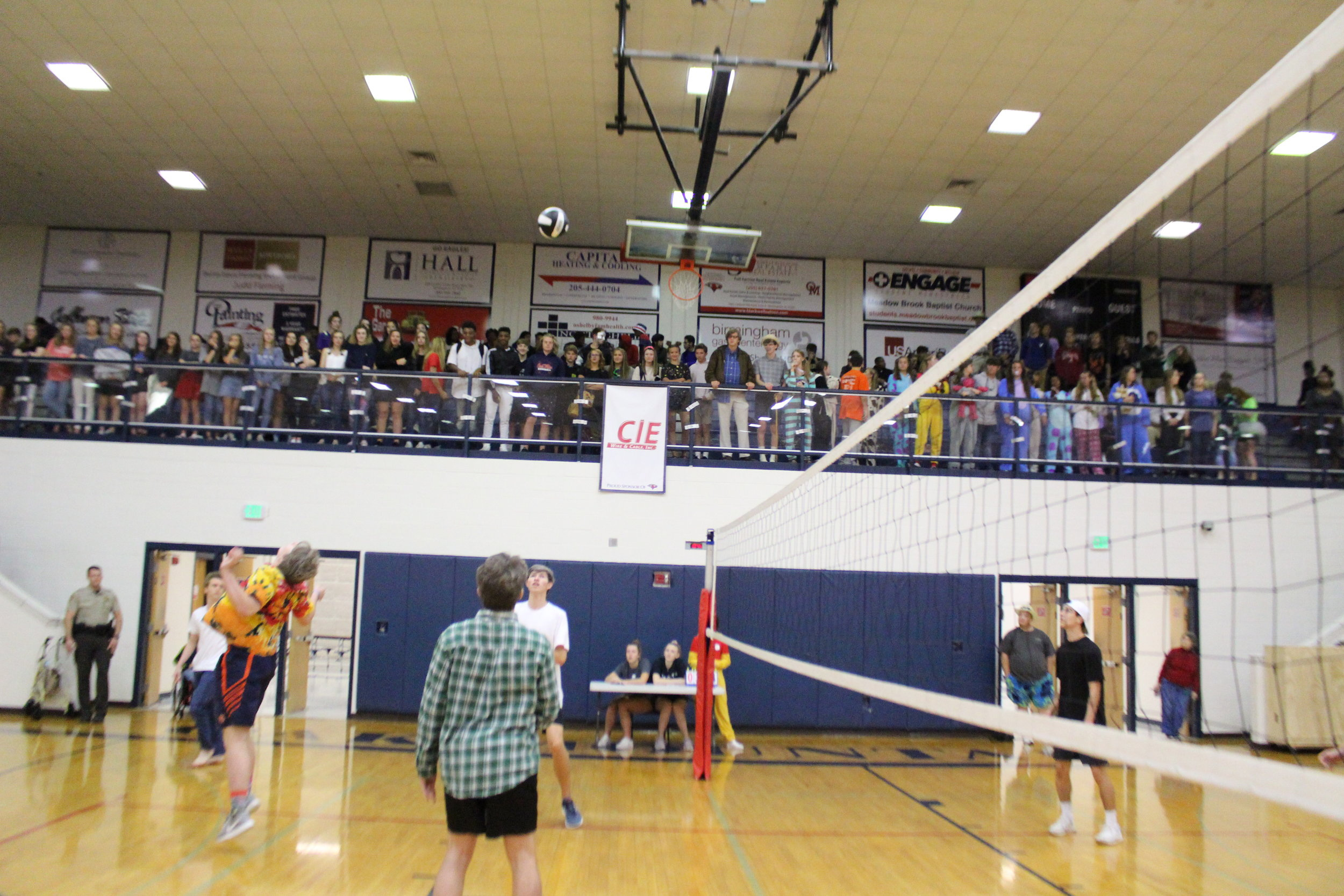 Another new homecoming activity, volleyball is open to junior and seniors to battle it out for homecoming points!