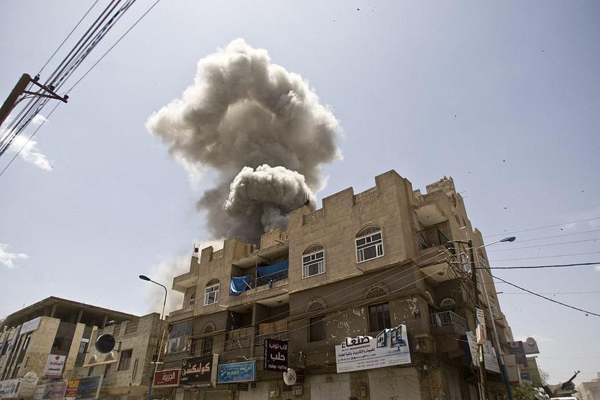 A Saudi airstrike in Sana'a, the capital of Yemen. Saudi involvement in the Yemeni Civil War, along with its oppressive domestic policies, spreading of radical Wahhabi teachings, and the recent murder of Jamal Khashoggi are among the key controversies surrounding Saudi Arabia.