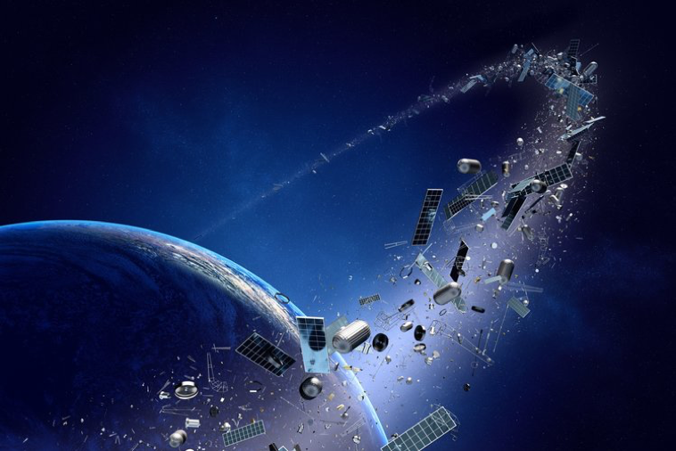 An example of the Kessler Syndrome