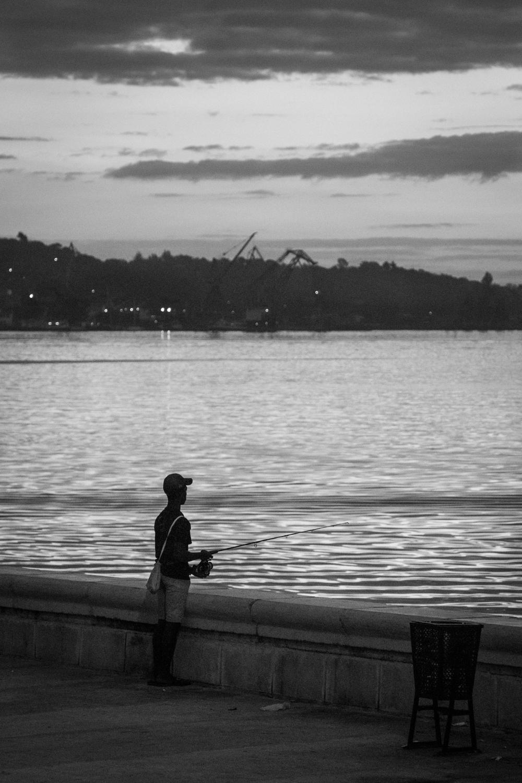 Fishing on Havana Bay