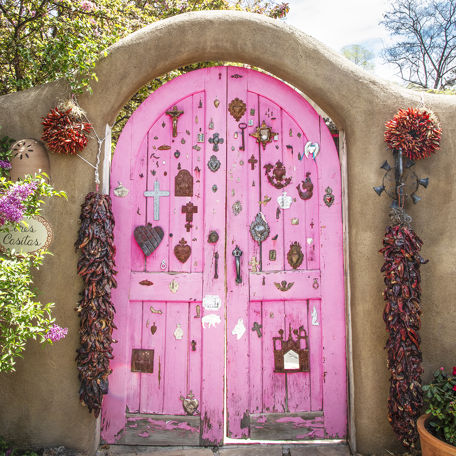 The Pink Gate - Santa Fe, NM