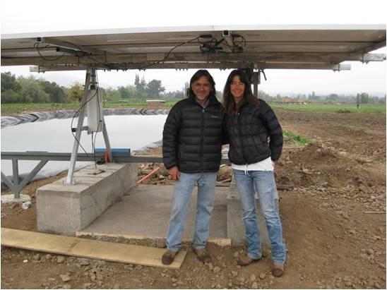 Alvaro and Marina from Antiyal Vineyard, Chile