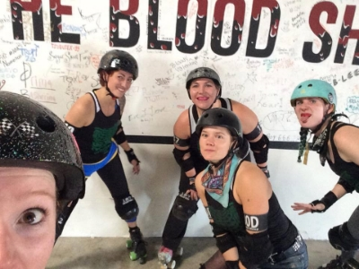 Fighting Girlfriend, BAMPF!, Doom Dee Doom, Meep Meep, and Whoreticia Maddams at The Blood Shed for Camp Elite 2016.