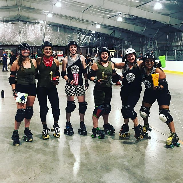 MVPs from last nights bout in Durango! @durangorollergirls thanks for the awesome time! #dcrd #doomsdames #durango