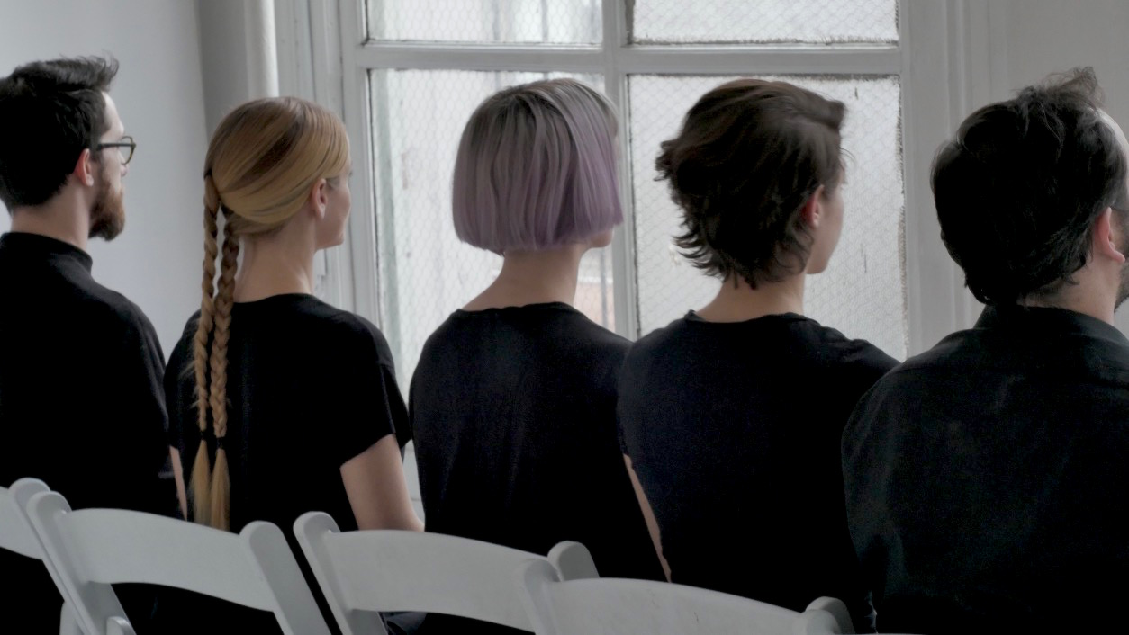 TAK ensemble (left to right: Carlos Cordeiro, Laura Cocks, Charlotte Mundy, Marina Kifferstein, Ellery Trafford)