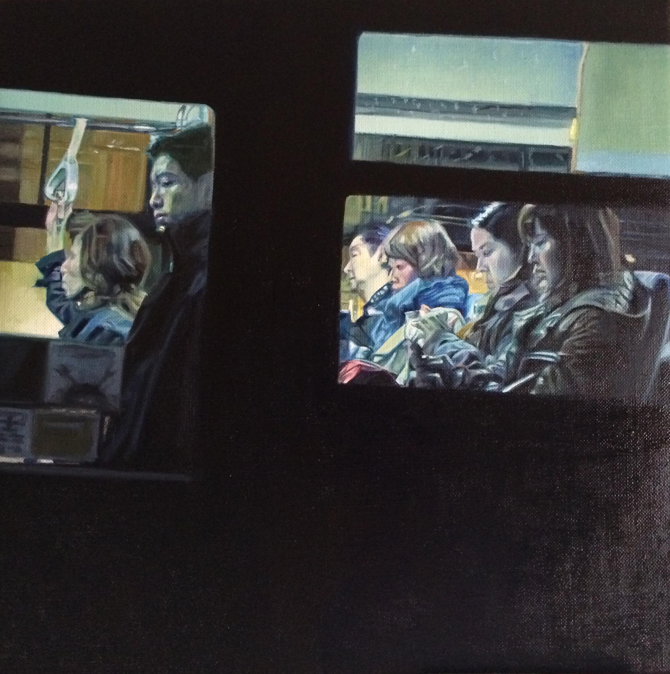 Bus No. 8. Oil on canvas.  33cm x 33cm