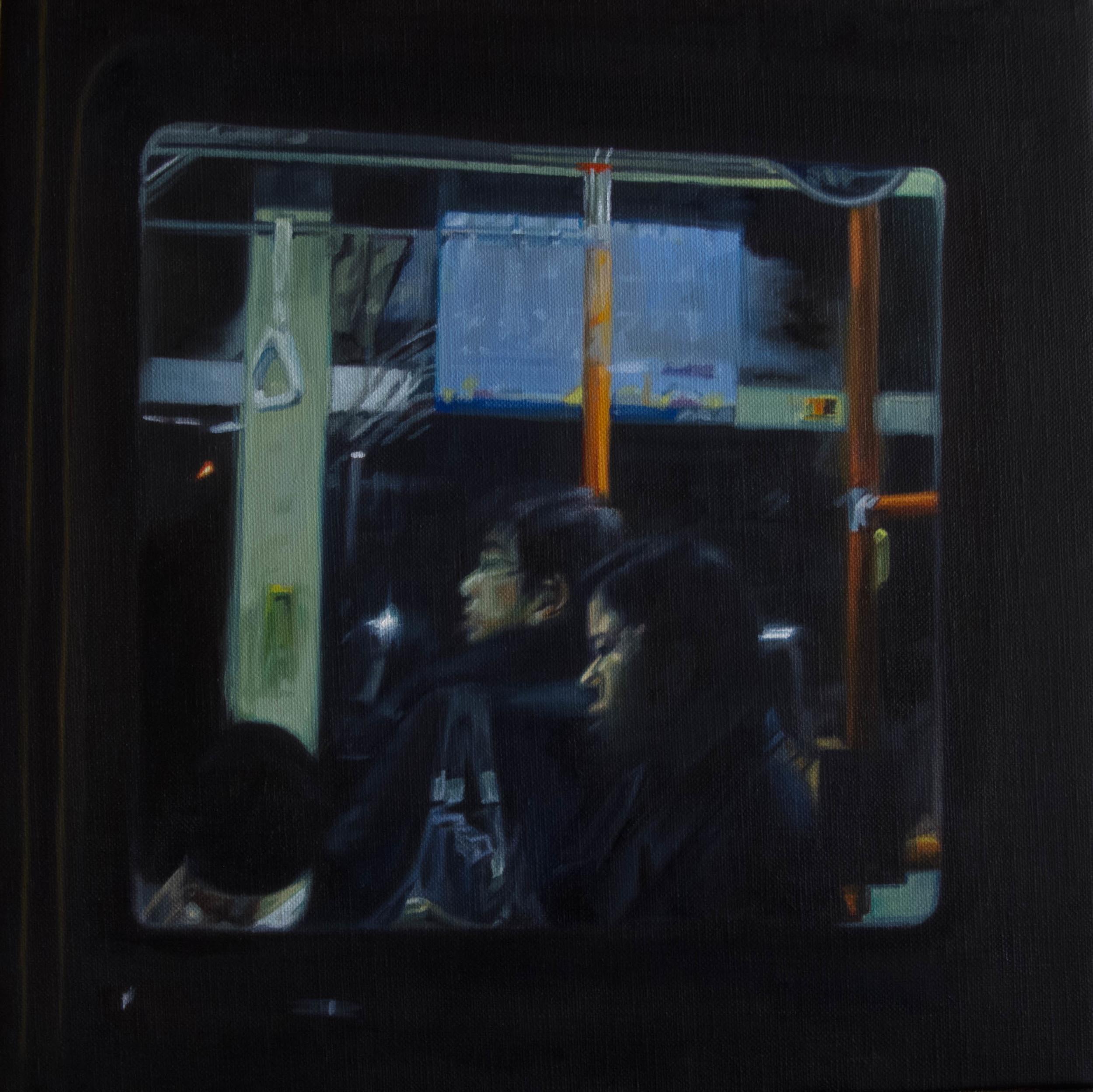 Bus No.2.  Oil on canvas.  33cm x 33cm