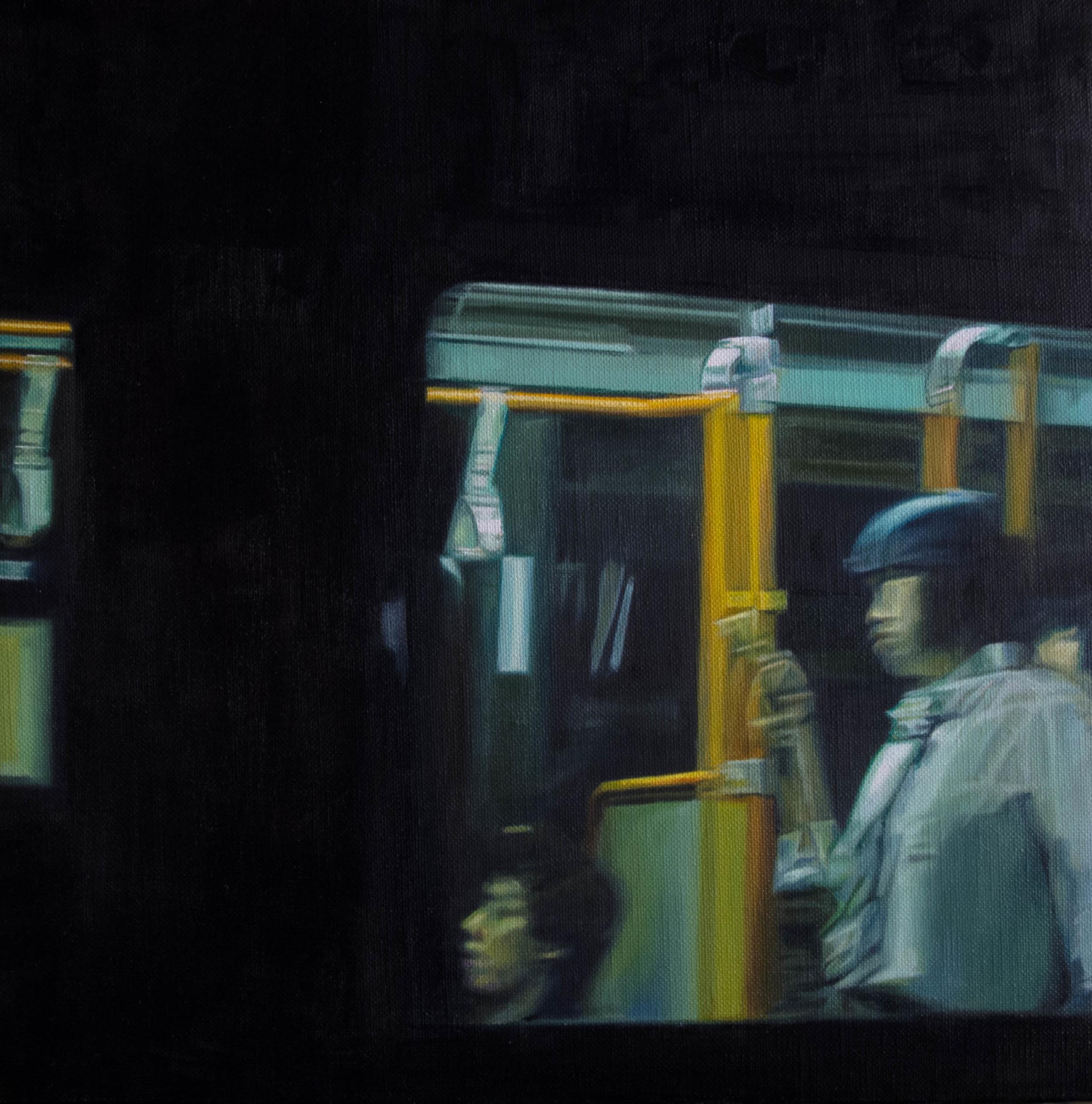 Bus No.3.  Oil on canvas.  33cm x 33cm