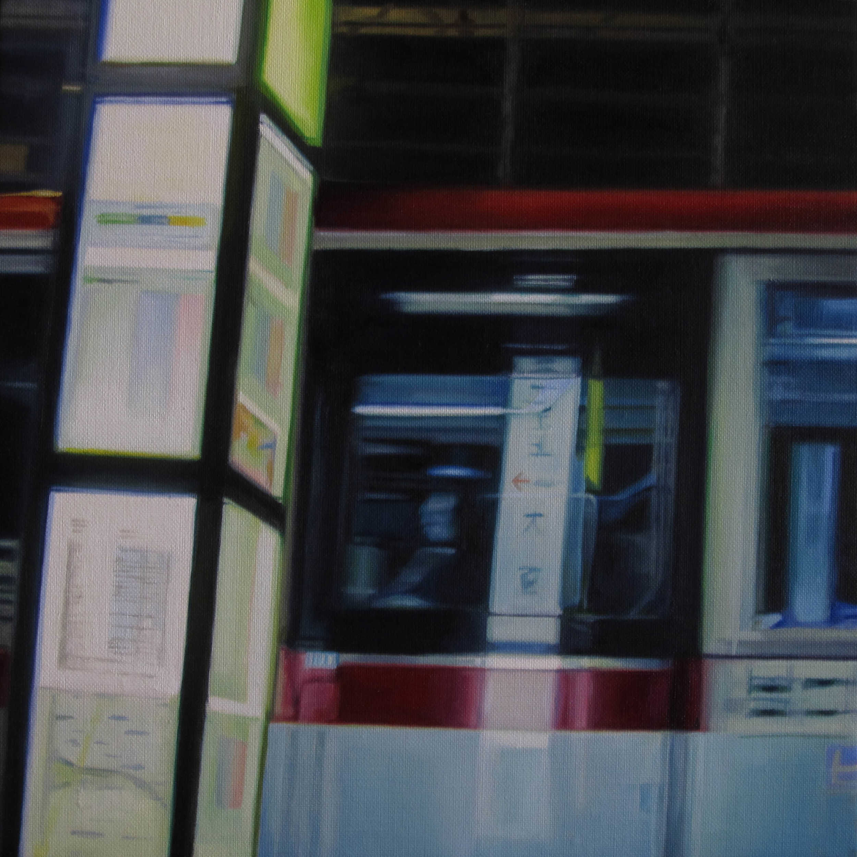 Bus No.10.  Oil on canvas.  33cm x 33cm