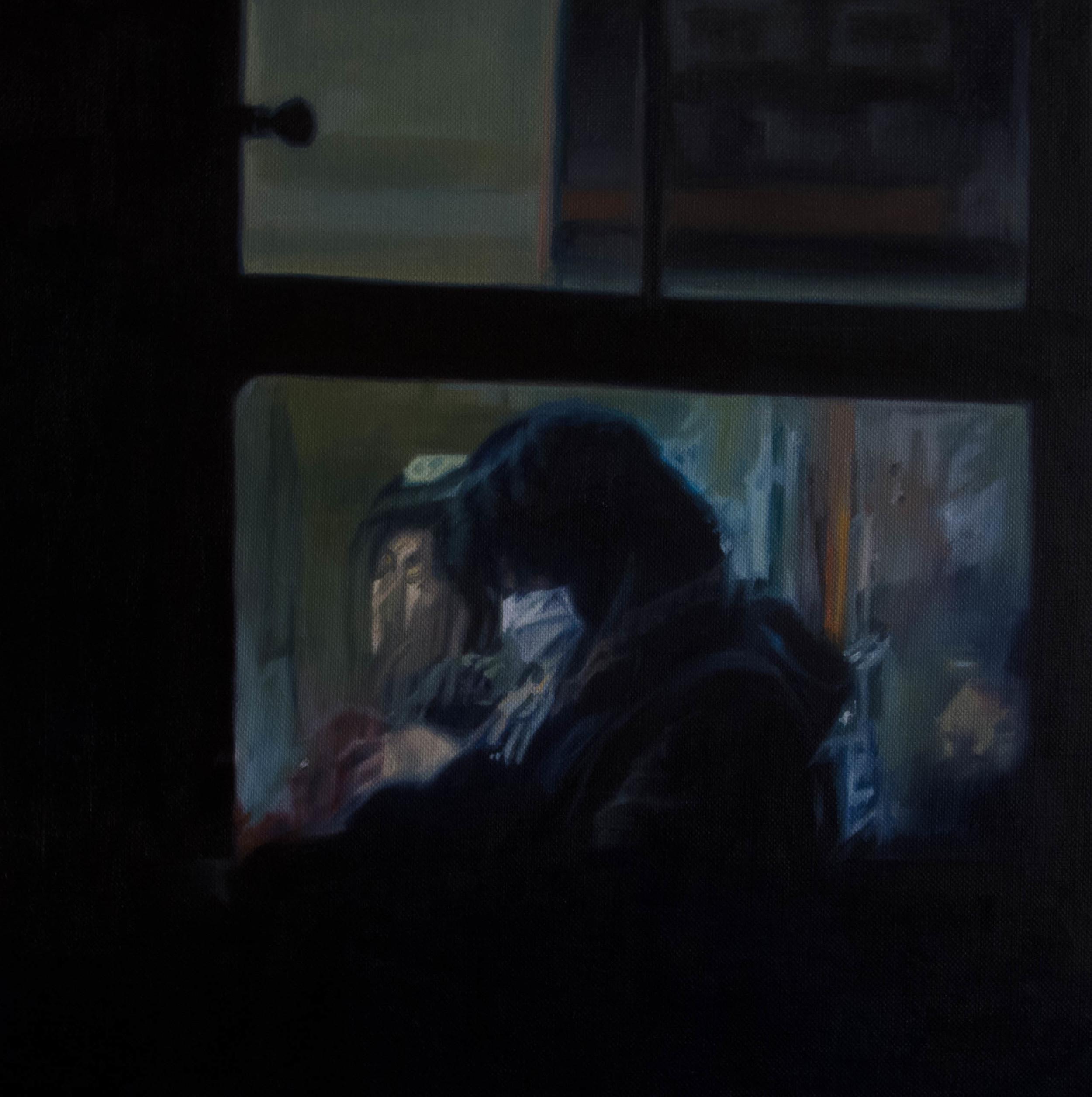 Bus No.9.  Oil on canvas  33cm x 33cm