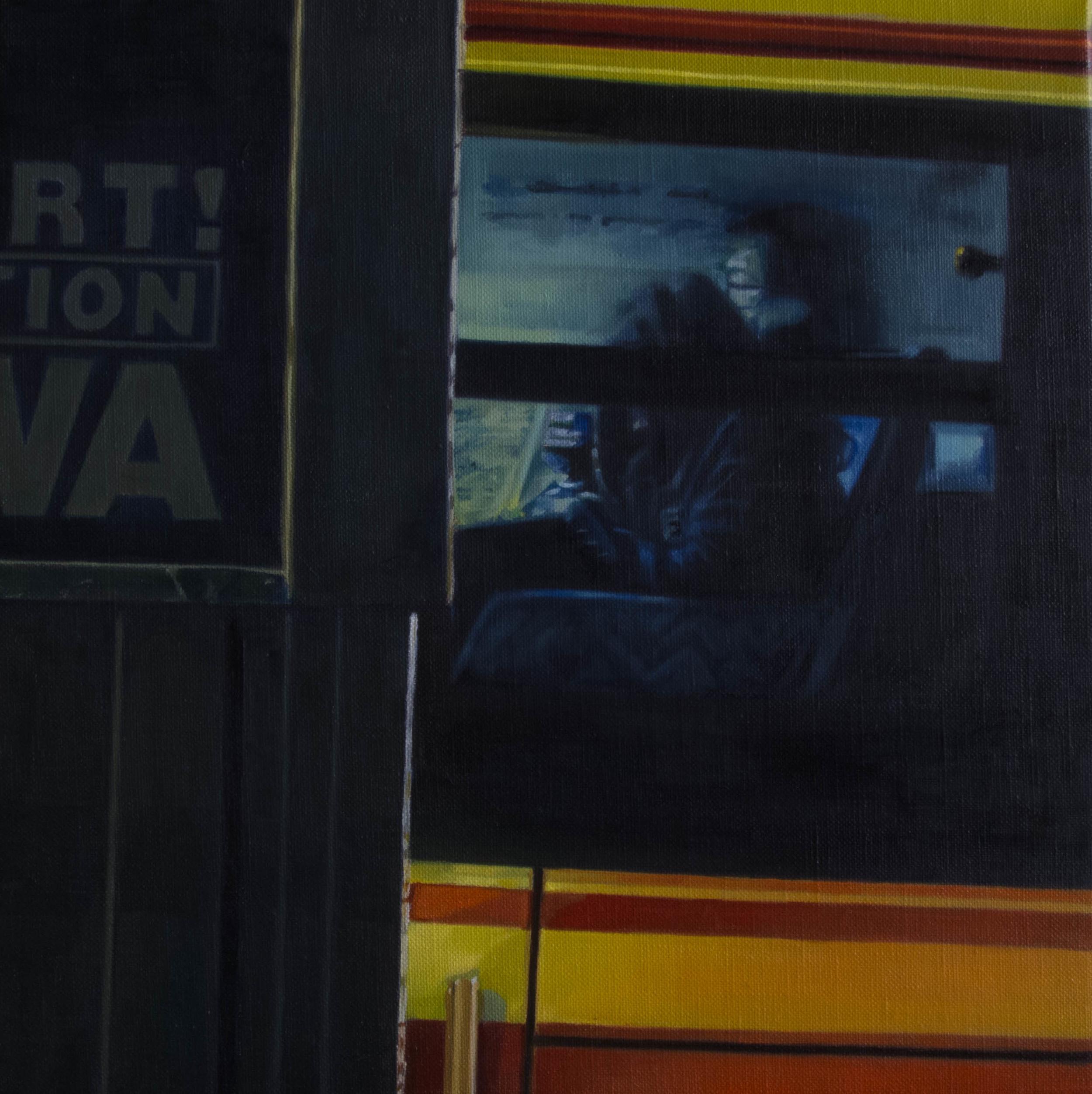 Bus No.6.  Oil on canvas.  33cm x 33cm