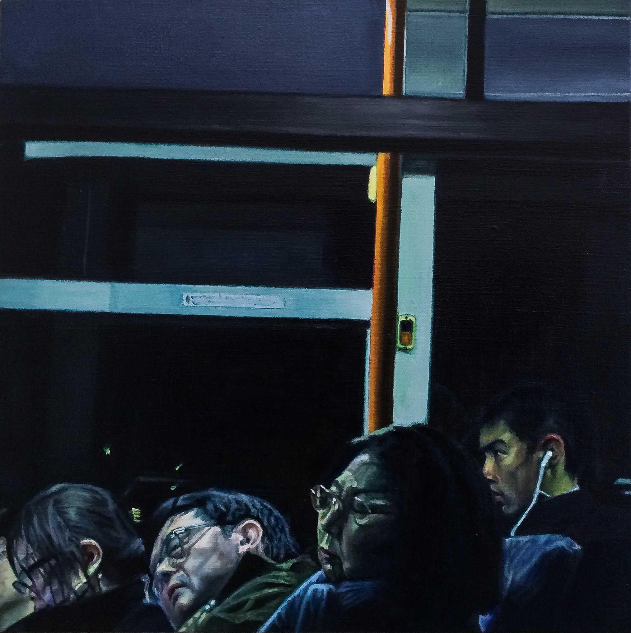 Bus No.11.  Oil on canvas.  33cm x 33cm