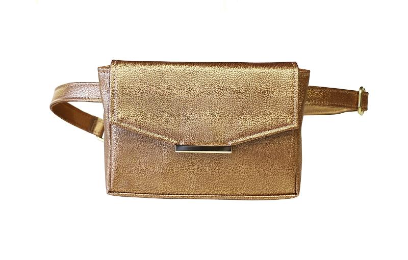 Convertible Belt Bag in Bronze