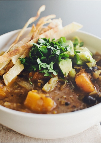 Black Bean + Butternut Soup