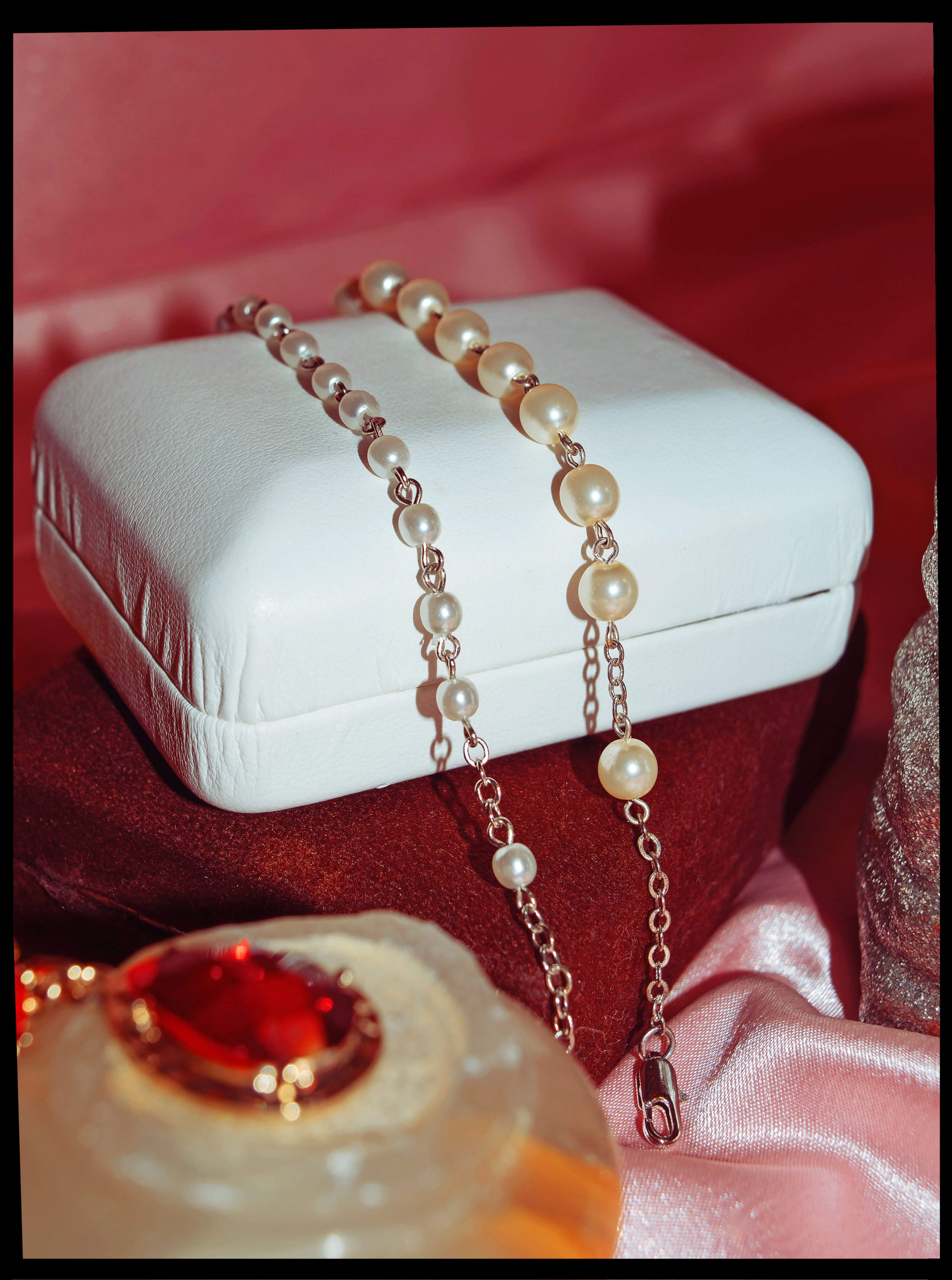 Austrian Crystal & Freshwater Pearl Bracelet