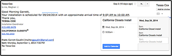 "Gmail Desktop ""Add to Calendar"" not available in Mobile"