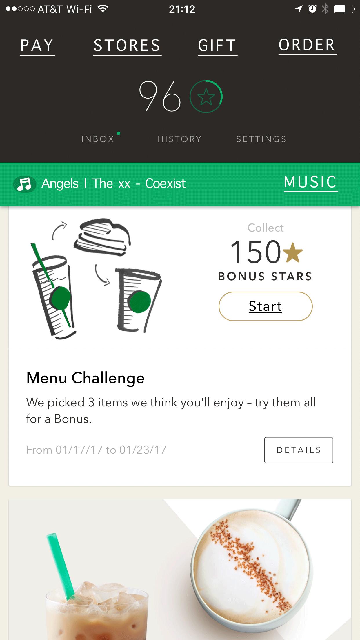 Starbucks App Home Reimagined.