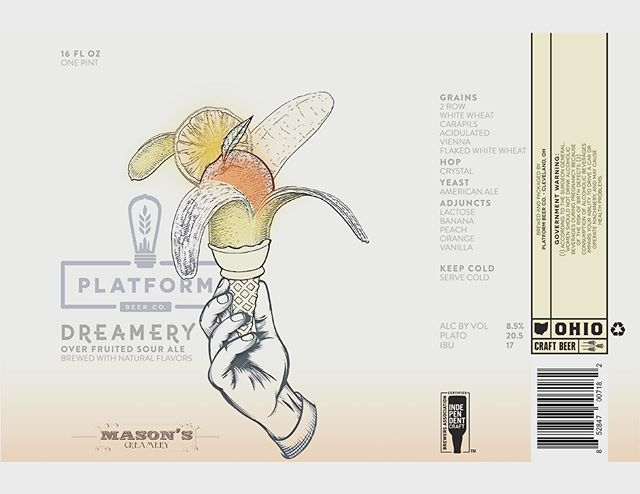 Not going into production but 🤷🏻♂️ • • • #labeldesign #branding #craftbeer #icecream #cleveland #graphicdesign #illustration